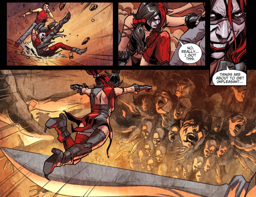 harley quinn vs a hecatonchire