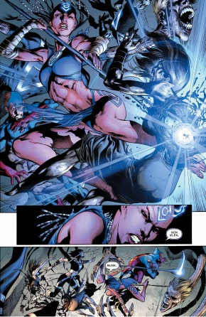 Indigo-1 and Indigo-2 vs black lantern justice league