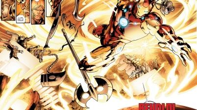 iron man creates asgardian weapons