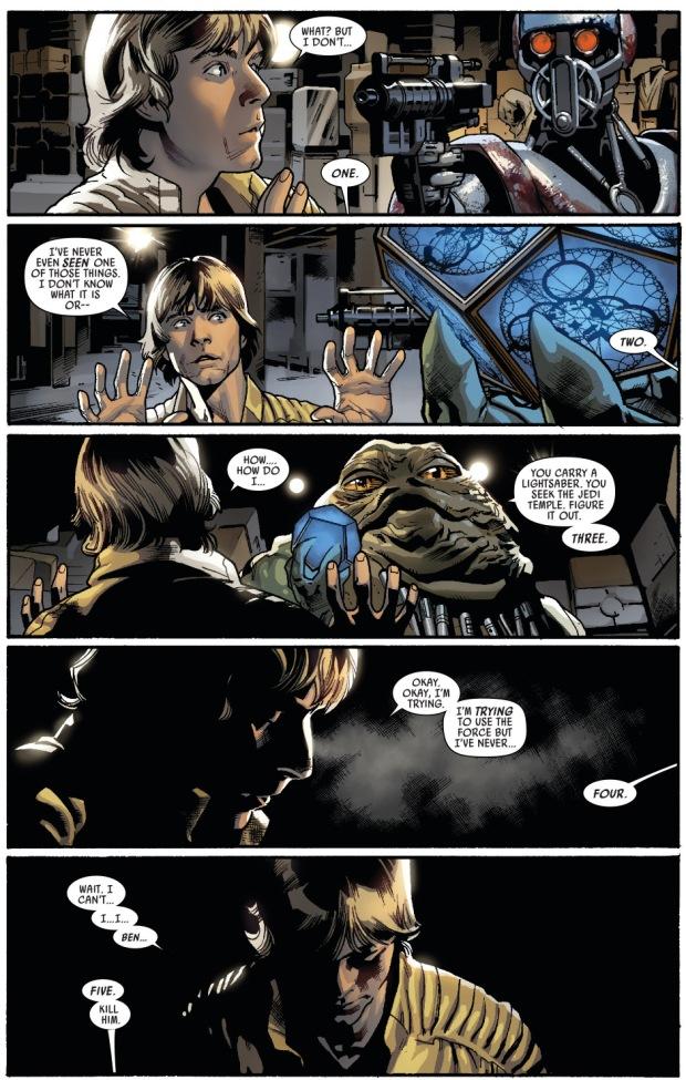 Luke Skywalker Activates A Jedi Holocron | Comicnewbies