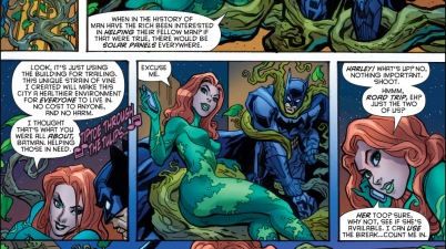 poison ivy makes gotham more eco-friendly