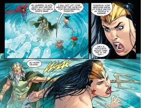poseidon attacks wonder woman