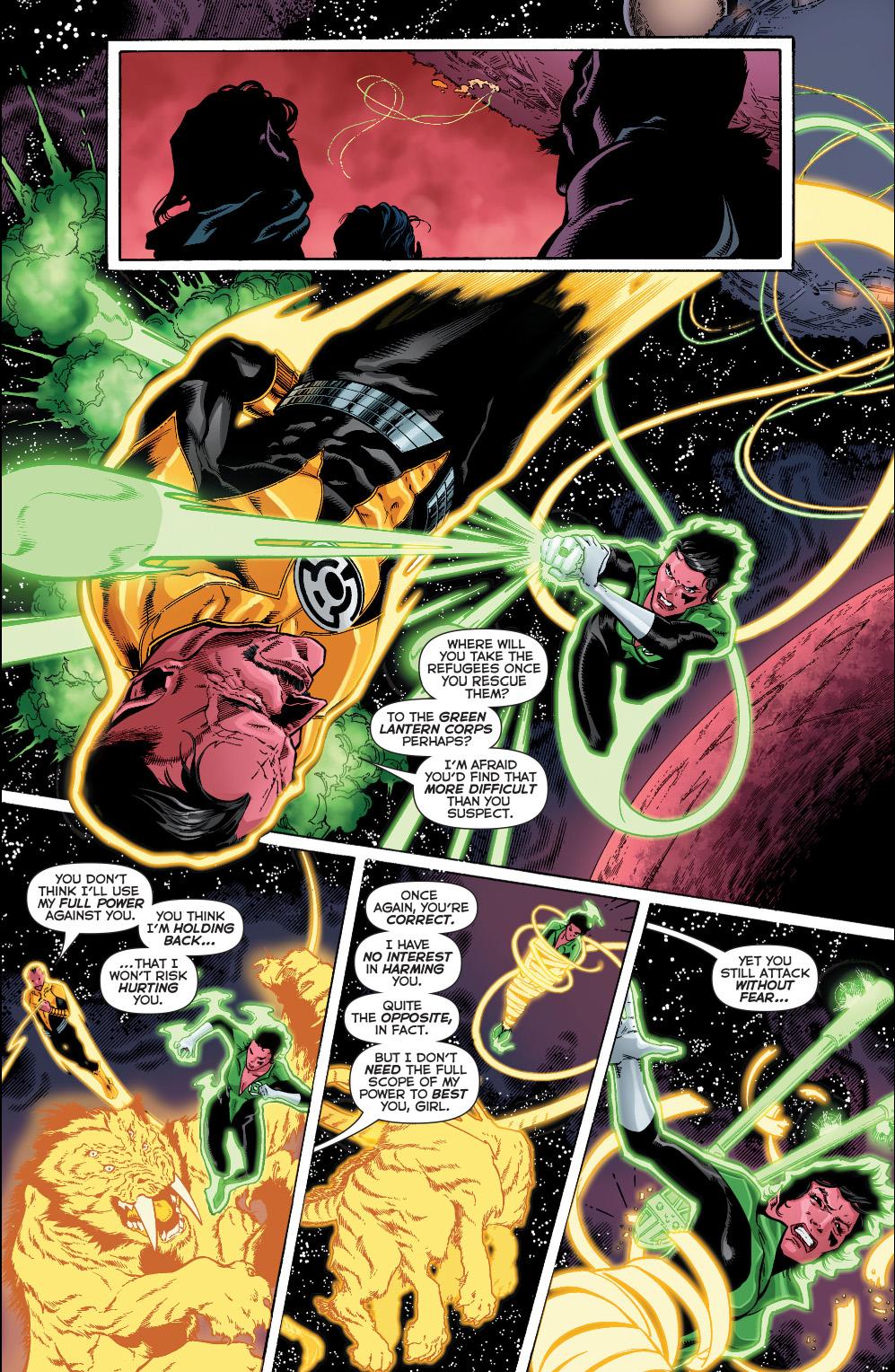 Soranik Natu Vs Sinestro Comicnewbies