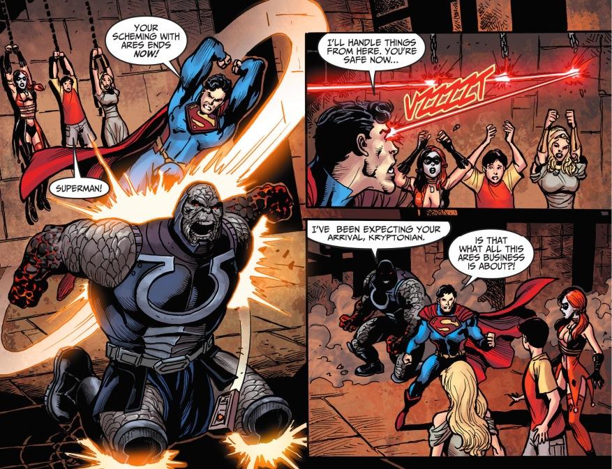 superman attacks darkseid