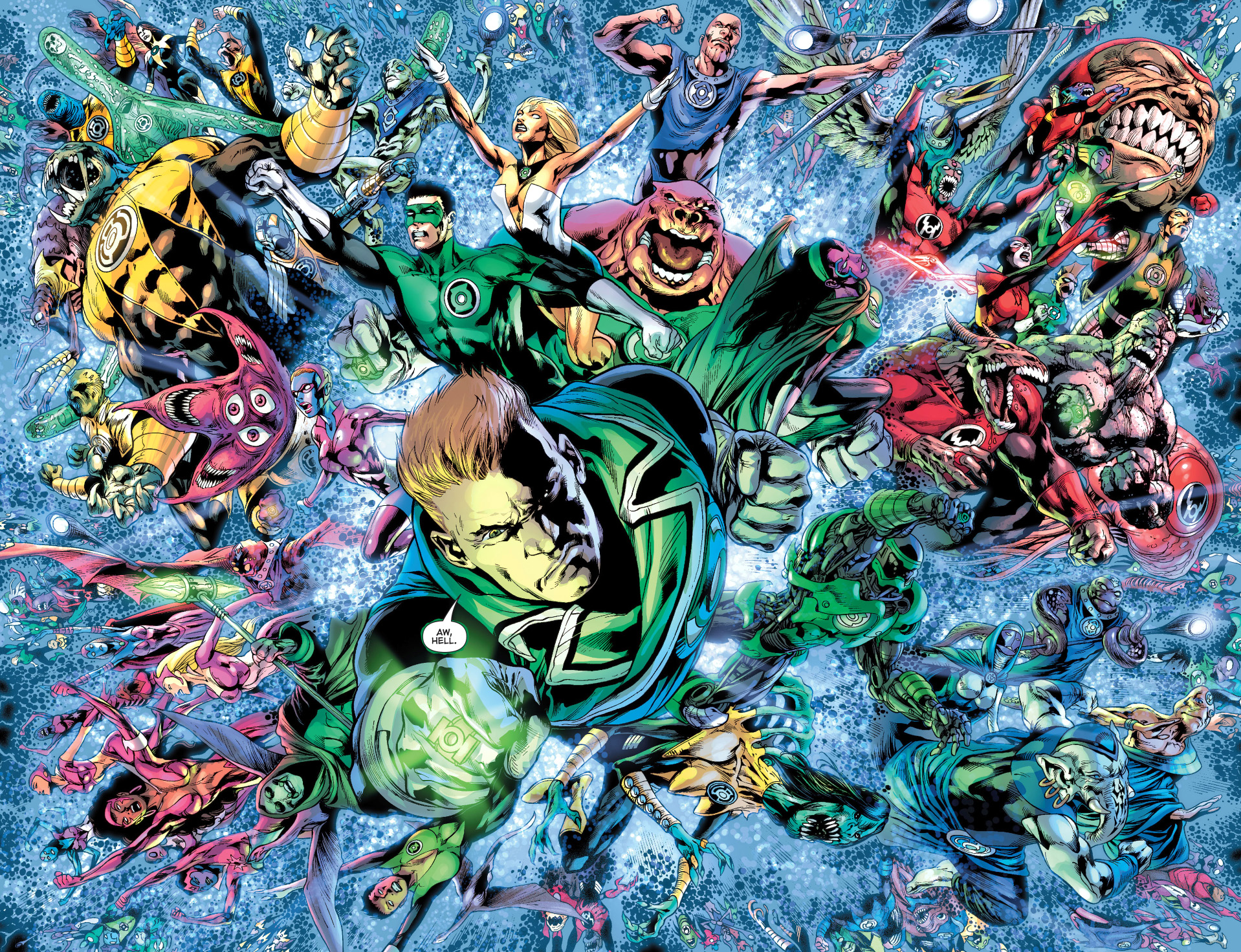 The 7 Lantern Corps Unite – Comicnewbies