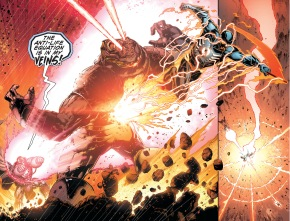 the anti-monitor and death attacks darkseid