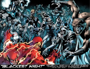 the flash faces off with the black lanterns