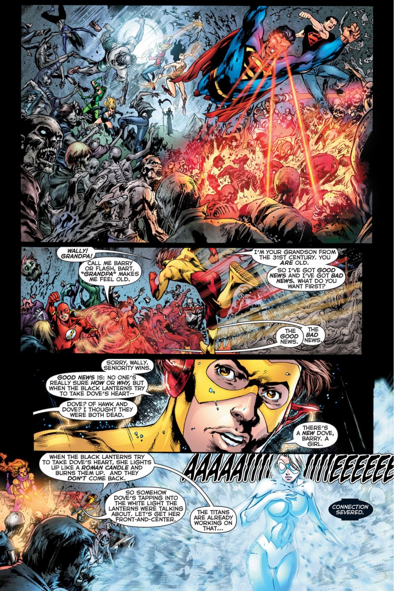 The Justice League And Teen Titans VS Black Lanterns ...