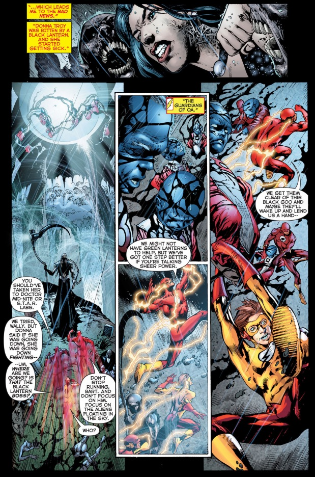 the justice league and teen titans vs black lanterns