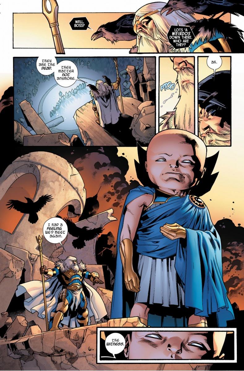 Uatu The Watcher Judges Odin | Comicnewbies
