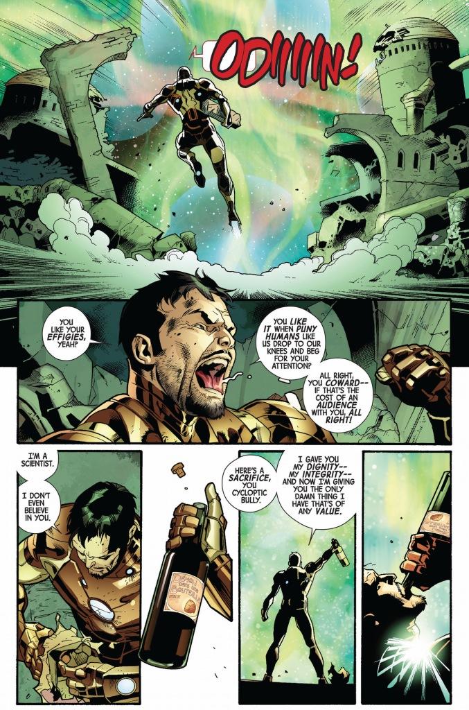 what iron man sacrificed to odin