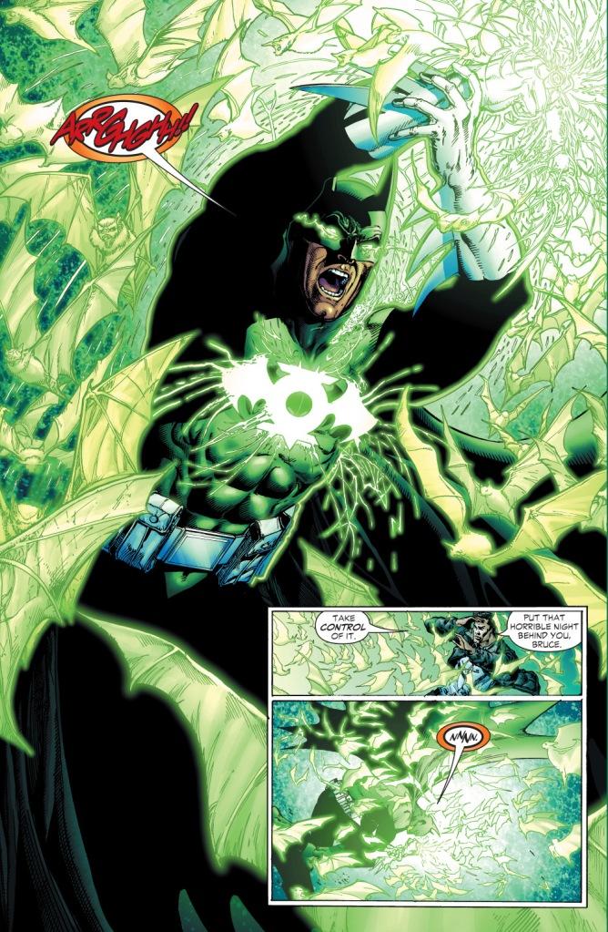 batman wears green lantern's ring