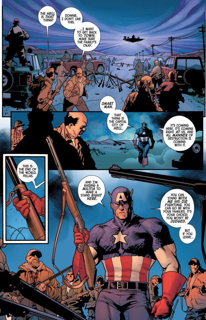 captain america's militia against the serpent