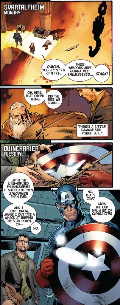captain america's shield is repaired