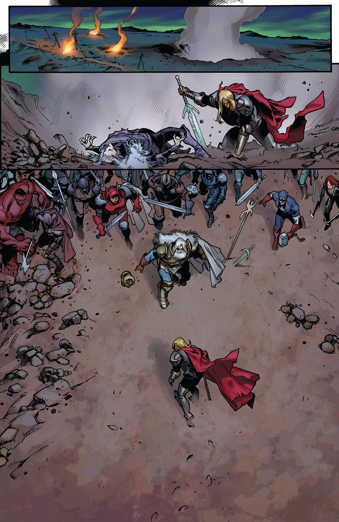 Death Of Thor Fear Itself Comicnewbies