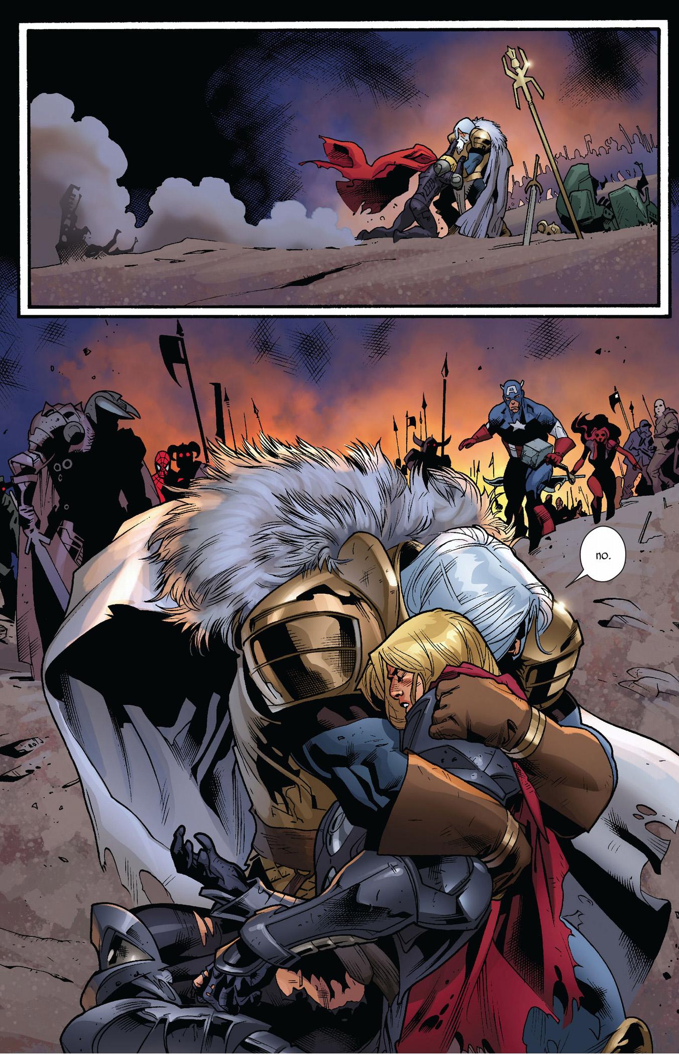 Death Of Thor Fear Itself Comicnewbies