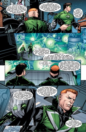 guy gardner describes wearing a red ring