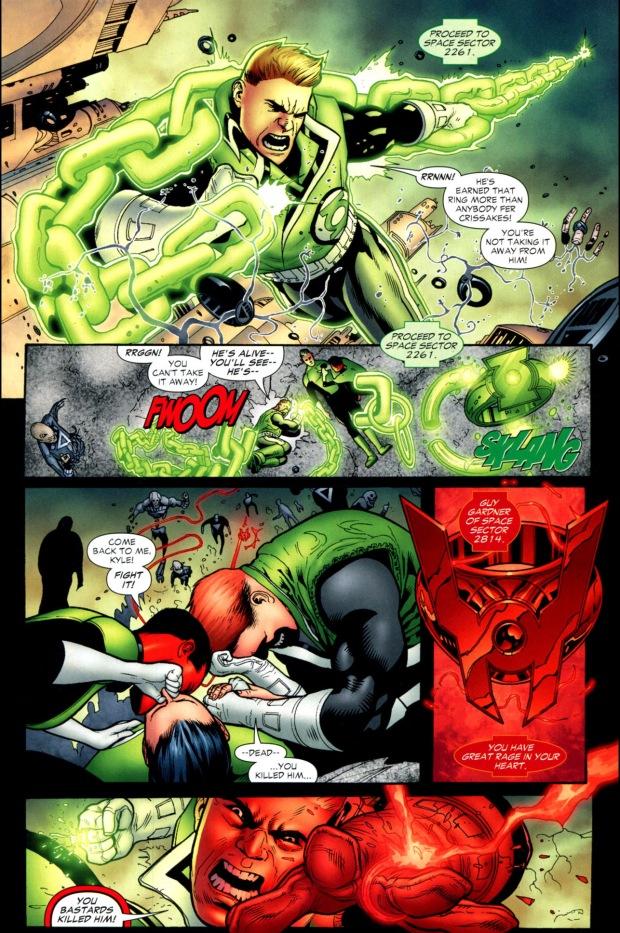 How Guy Gardner Became A Red Lantern Blackest Night