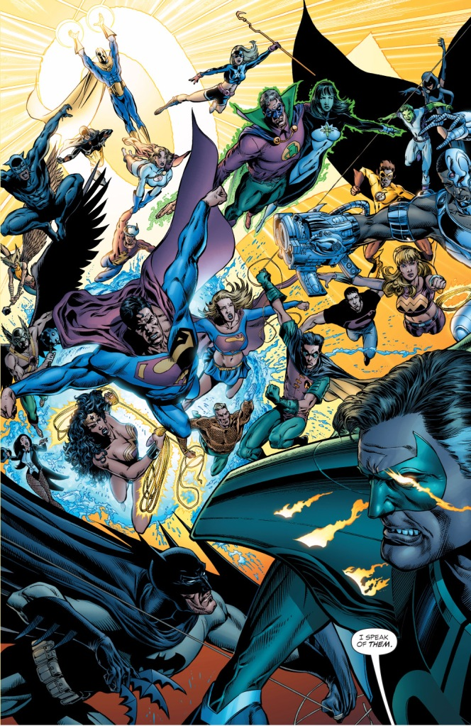 justice league, justice society and teen titans vs parallax