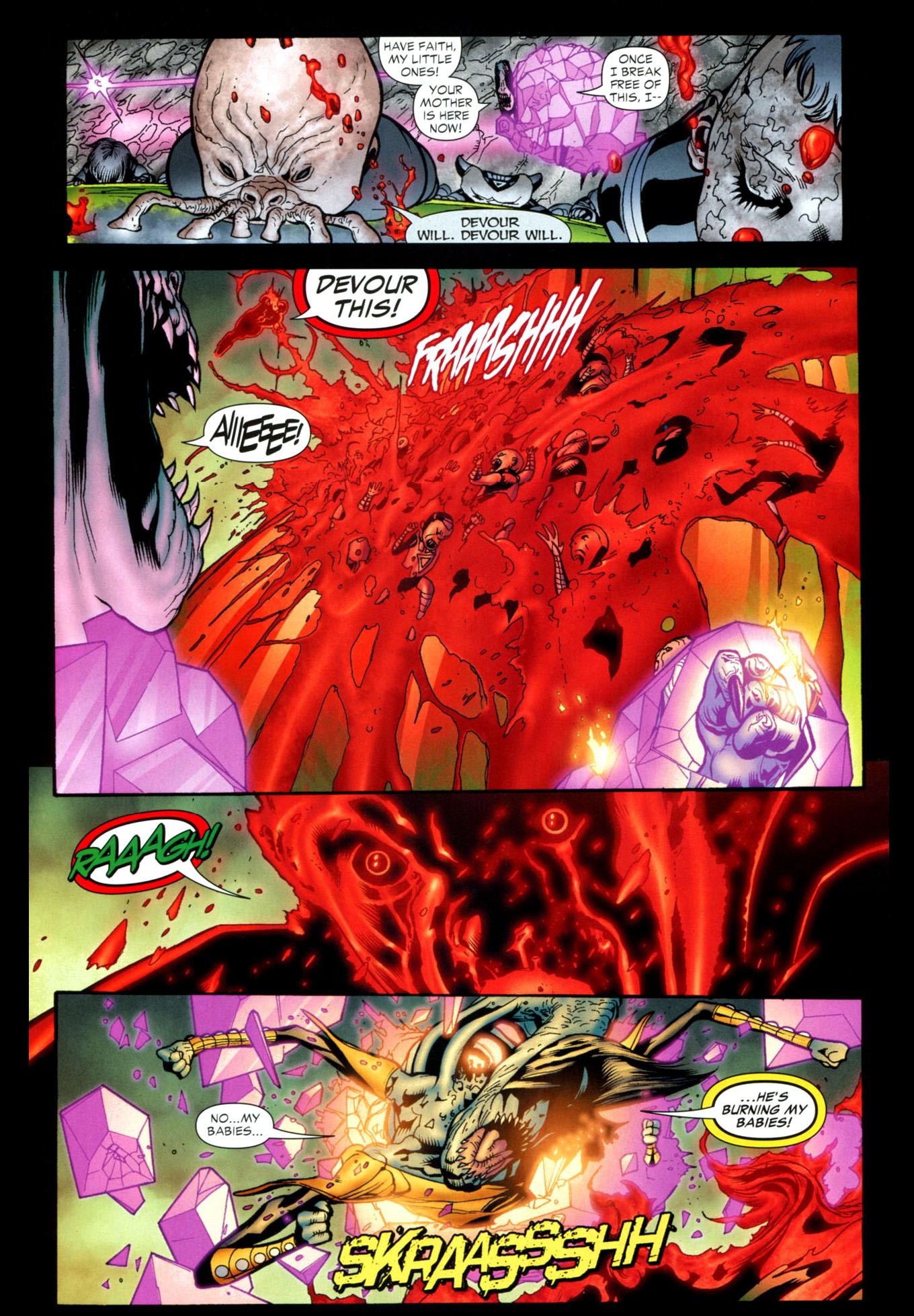 Red Lantern Guy Gardner Vs Kryb Comicnewbies