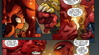 spider-man teaches red hulk how to be a hero