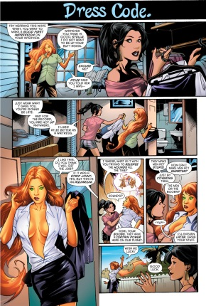 starfire dresses up for an interview