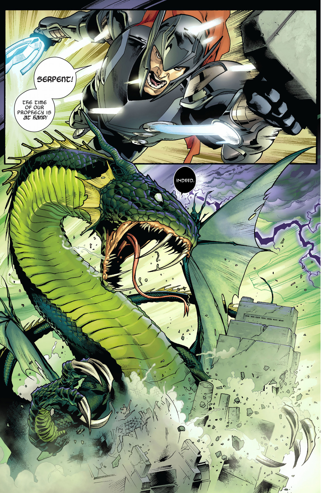 Thor VS The Serpent | Comicnewbies