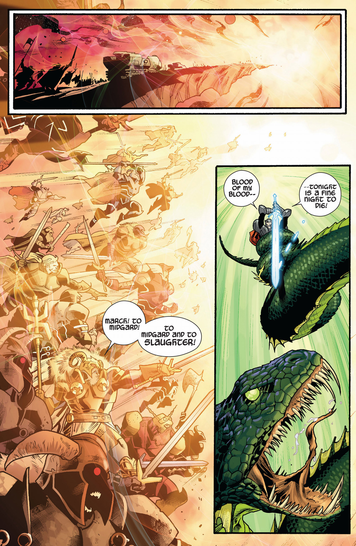 Thor VS The Serpent   Comicnewbies