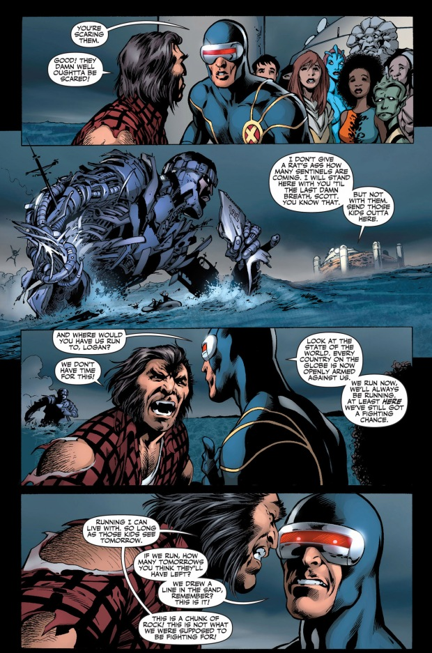 what cyclops and wolverine disagreed about on schism