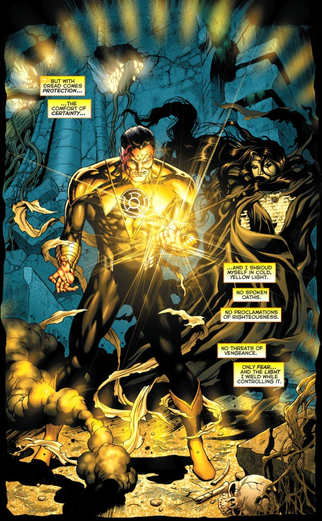 what is sinestro's fear