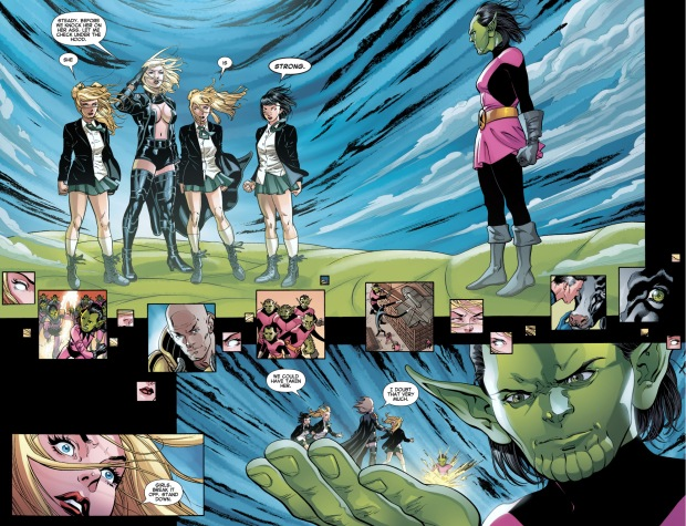Emma Frost And The Stepford Cuckoos VS Z'Cann