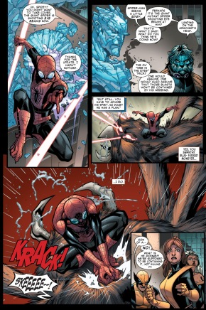 how superior spider-man took down a giant spider