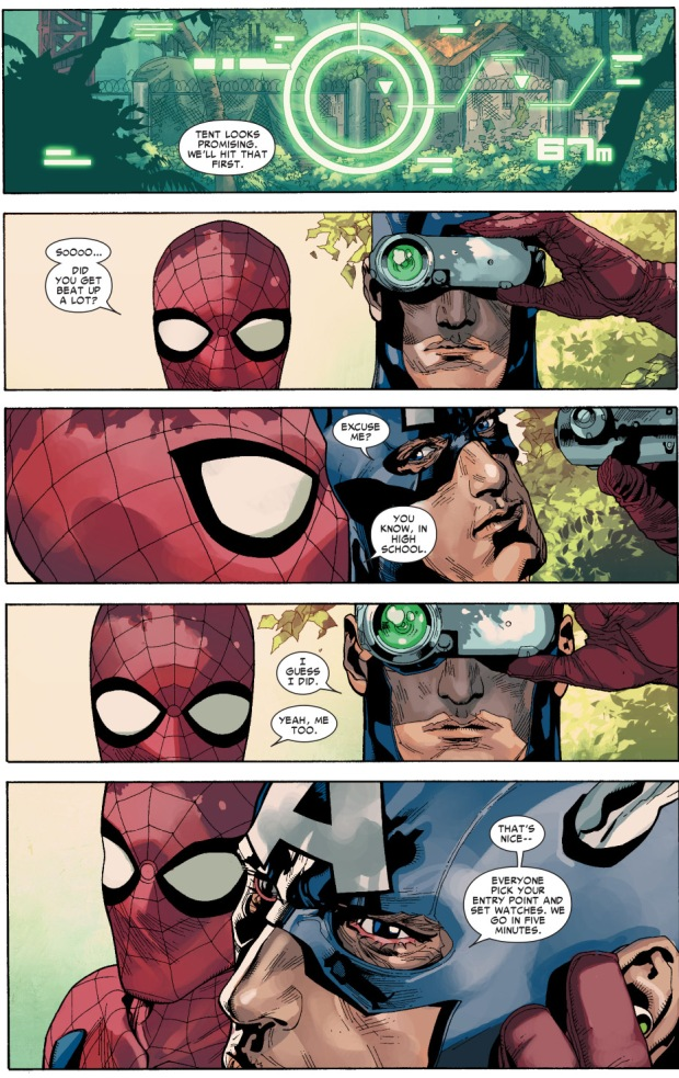 spider-man tries to bond with captain america