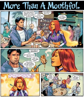 starfire learns comebacks