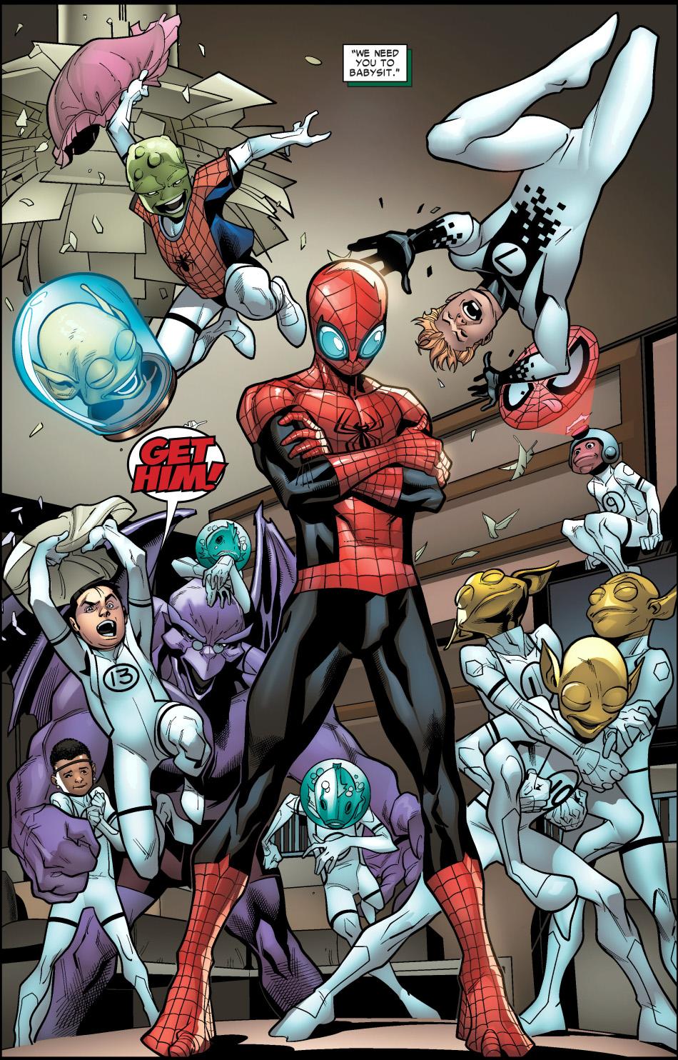 Superior Spider-Man Babysits The Future Foundation ...