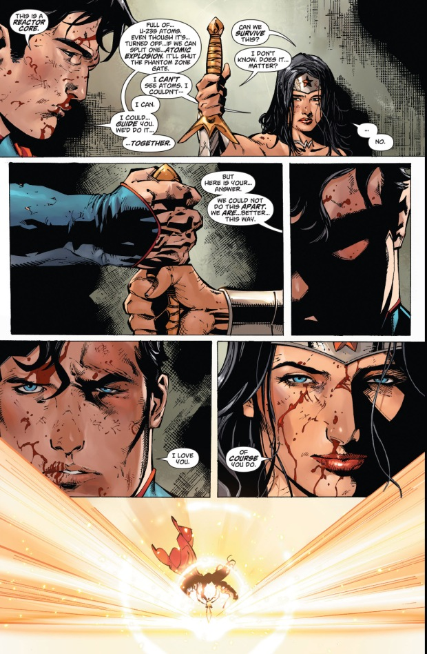 wonder woman's sword cuts atoms