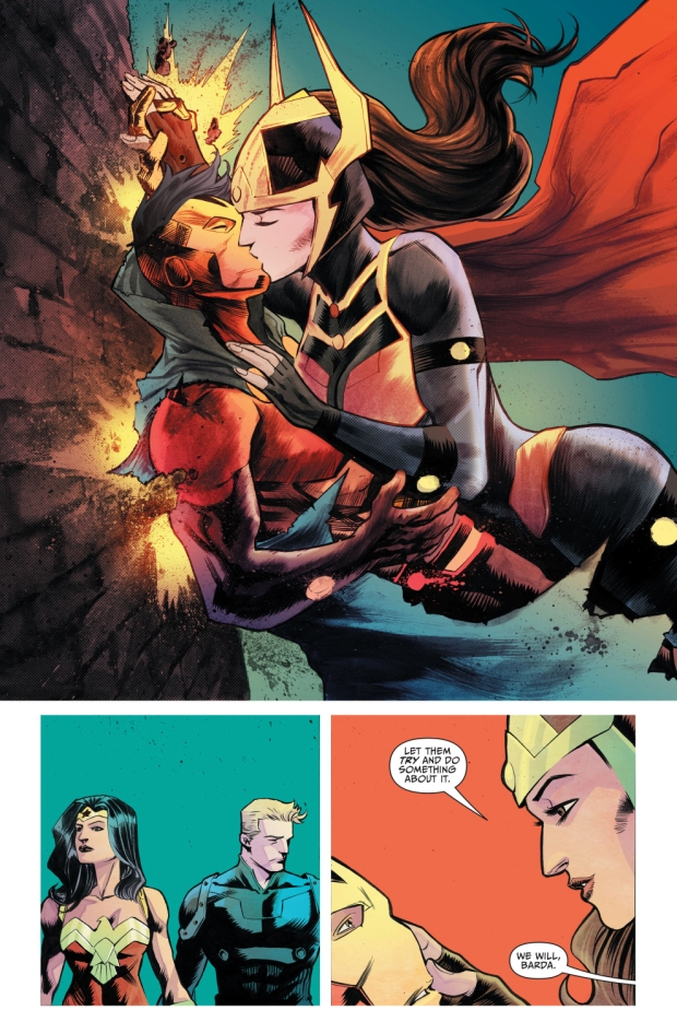 big barda kisses mister miracle