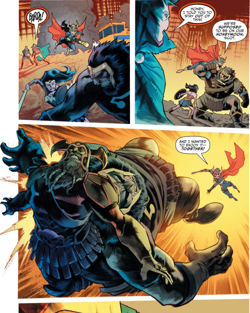 big barda takes out darkseid's forces