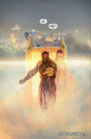black panther with the infinity gauntlet
