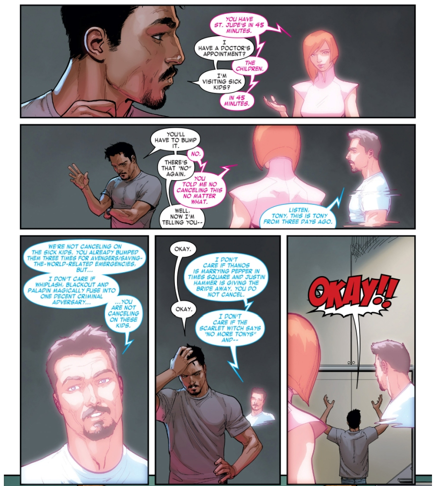 how iron man sets reminders
