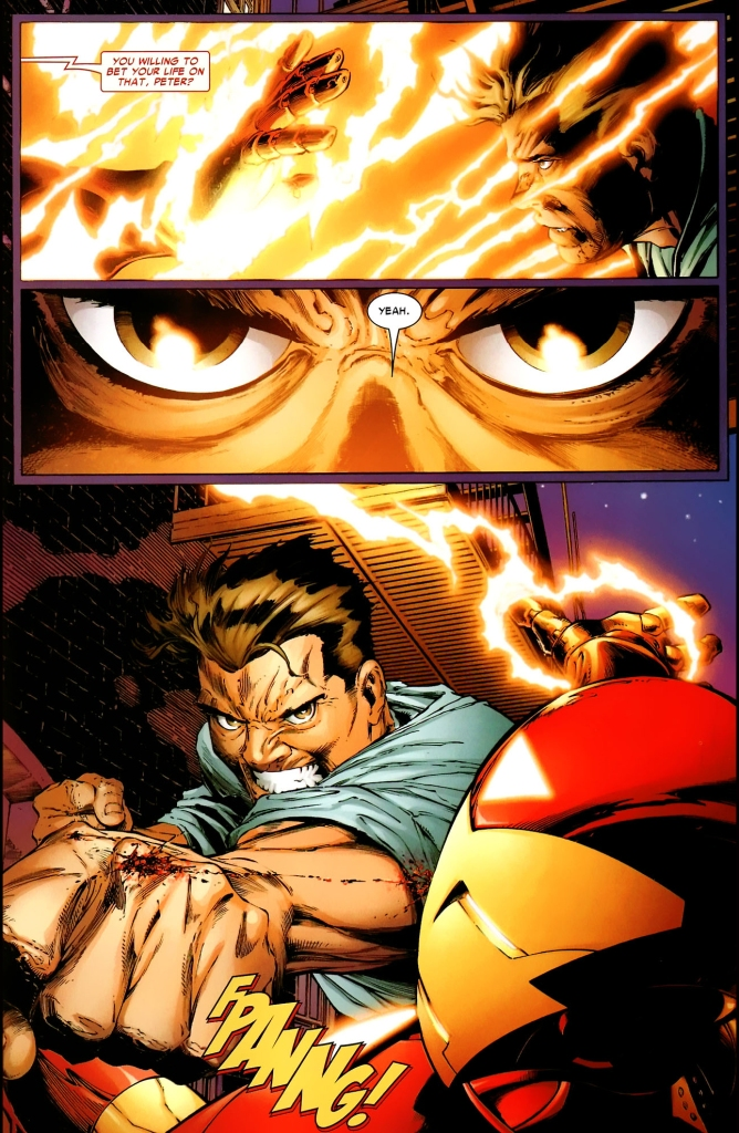 peter parker vs iron man (one more day)