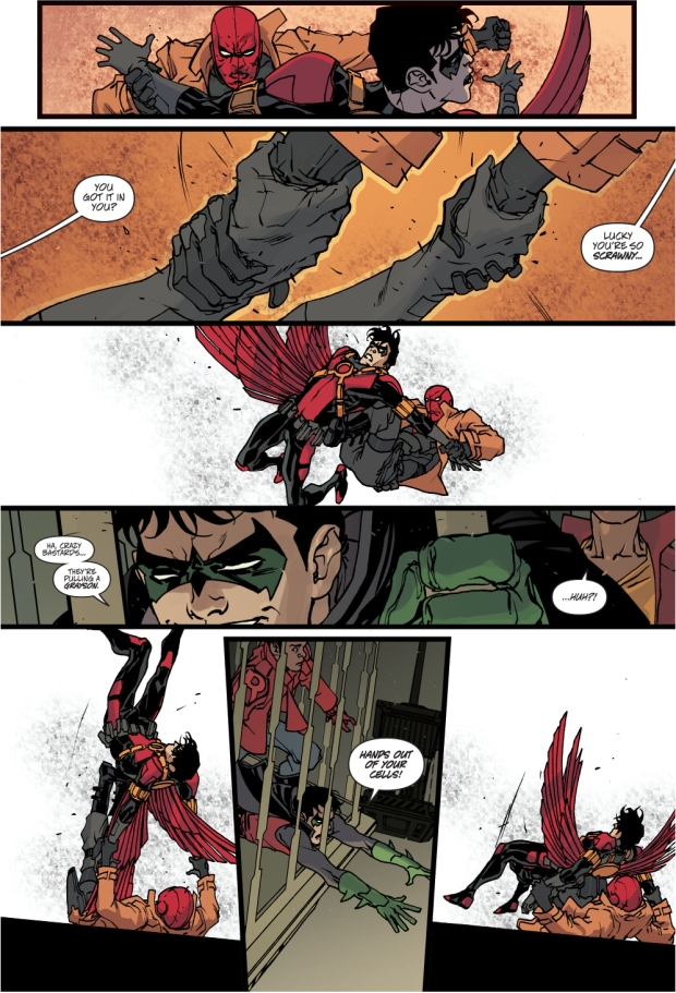 red hood vs red robin (robin war)