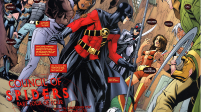 red robin preps against the council of spiders