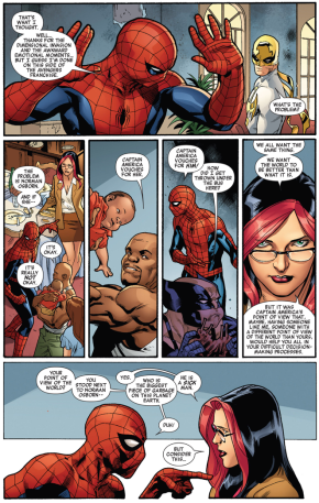 Spider-man's problem with victoria hand