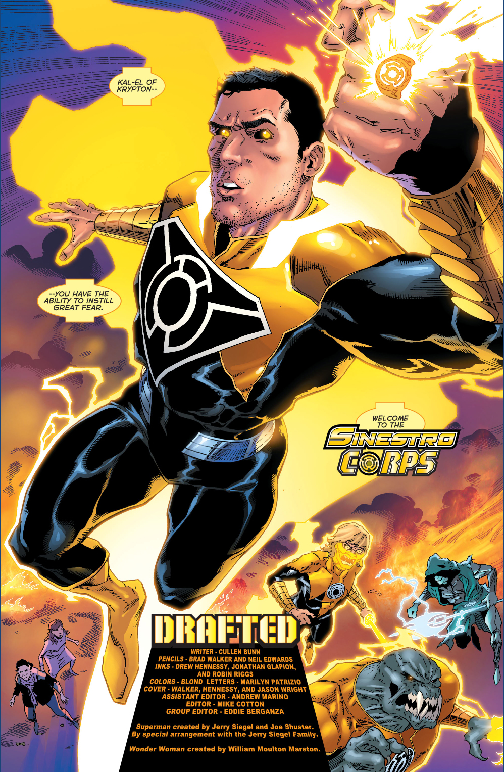 superman joins the sinestro corps comicnewbies