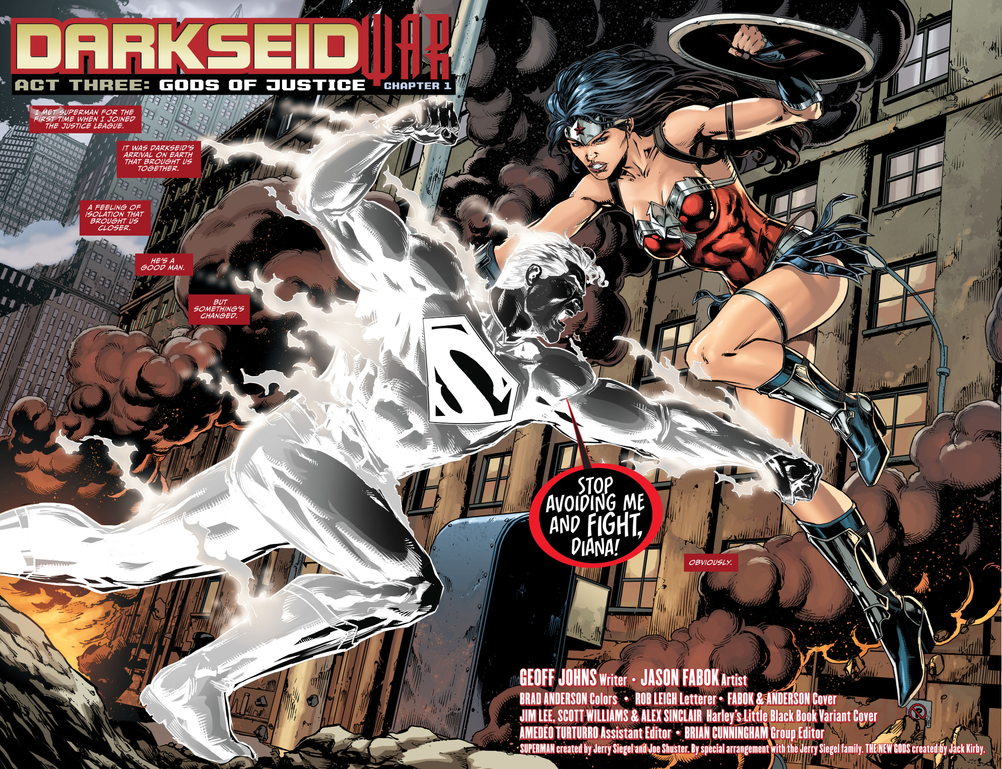 superman vs wonder woman (darkseid war) ...