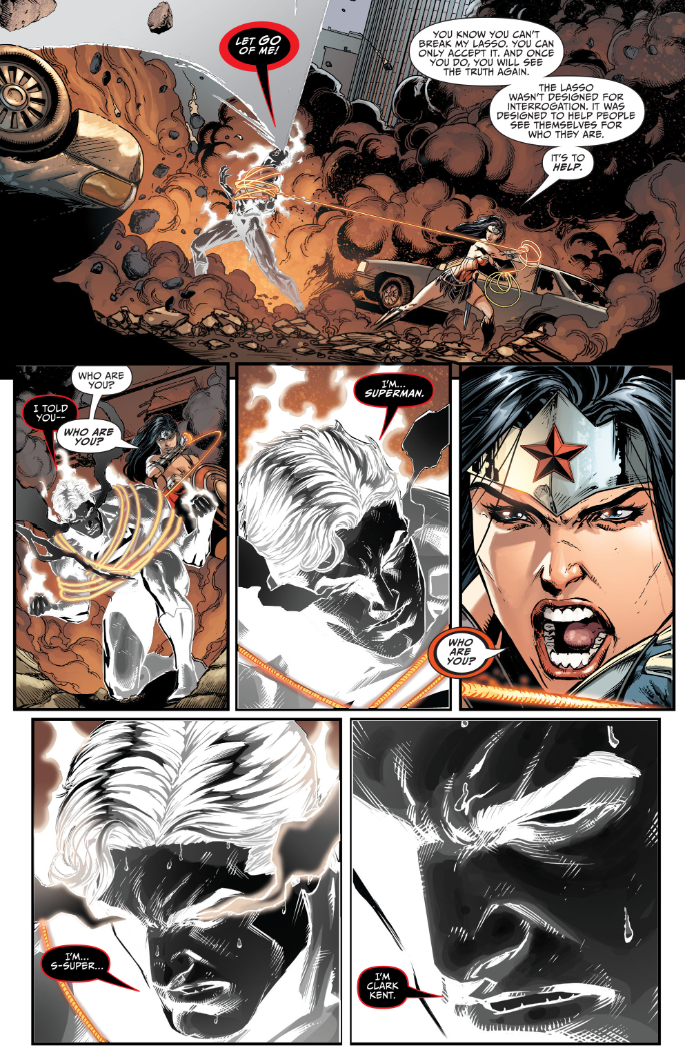 ... superman vs wonder woman (darkseid war)