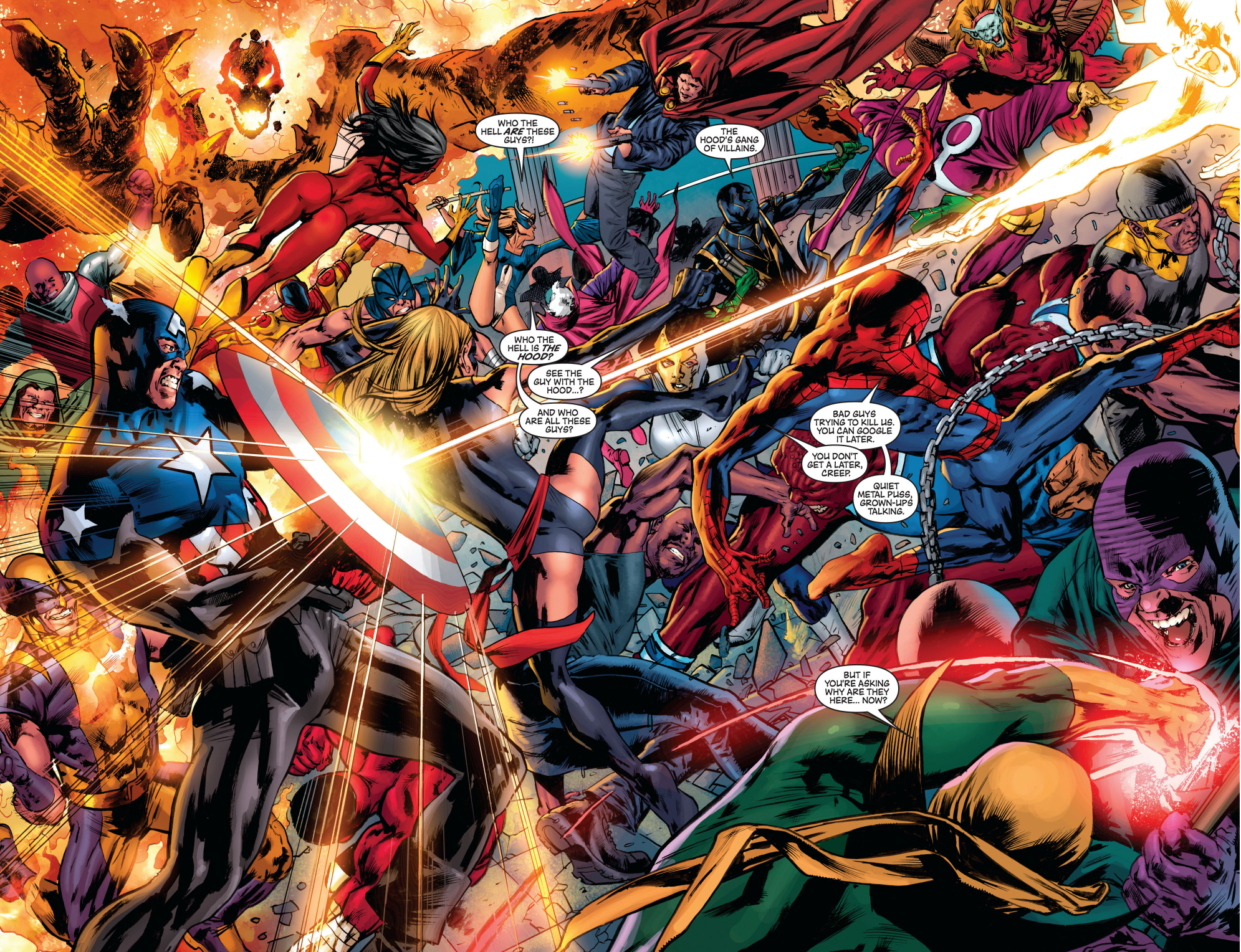 the new avengers vs the hoods army - Avengers Vs Justice League