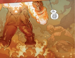 the thing vs galactus (secret wars)