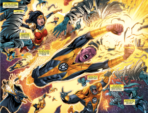 Wonder Woman and the sinestro corps